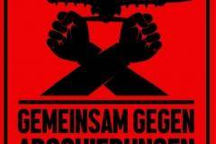 Gemeinsam gegen Abschiebungen - Poster